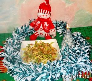 """Салат с курицей """"Лёгкий штрих"""" - к новогоднему столу!"""