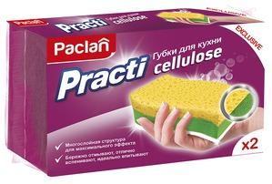 Палочка-выручалочка в борьбе за чистоту. Многослойная губка для кухни Paclan Practi Cellulose - универсальная помощница на кухне