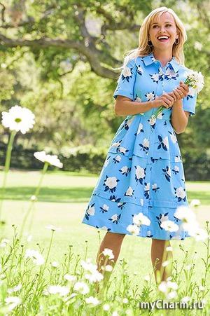 Риз Уизерспун создала коллекцию платьев с Net-a-Porter
