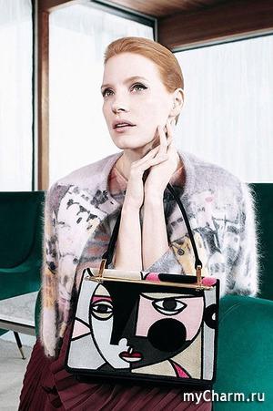 Джессика Честейн в рекламе Prada