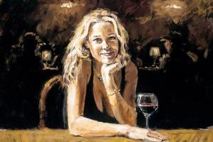 Блондинка в баре
