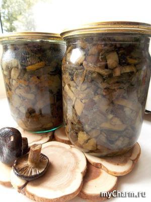 Жареные грибы на зиму.