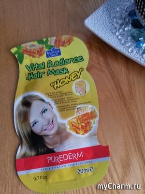 Медовый аромат и блеск гарантирует маска для волос от Purederm