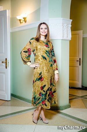 Ирина Безрукова на показе Алены Ахмадулиной