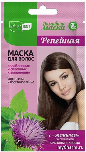 Маска NaturaList Репейная для ослабленных и склонных к выпадению волос