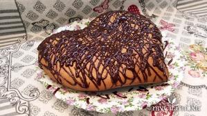 По следам поста о сливках) Кекс на сливках с шоколадной глазурью и лимонной цедрой.