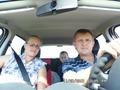 мы с мужем в машине