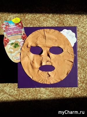 Селфи в масках. Забег №3.ovp65. Тканевая маска с красной глиной