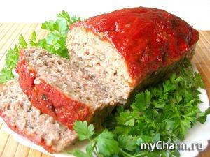 Мясной хлеб с грибами или лучшая мясная закуска митлоф!