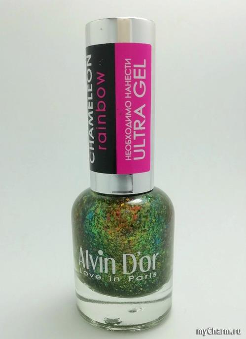 Праздничный, с шикарным наполнением лак для ногтей Chameleon Rainbow ADN-66 №6605 от бренда Alvin d'or