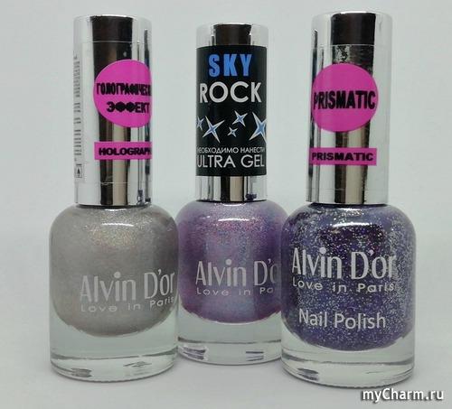 Такие разные и очень эффектные голографики: лаки для ногтей от бренда Alvin d'or ADN-07 №703, ADN-27 №2719, ADN-65 №6511