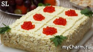 """Приготовьте Эту ВКУСНЯТИНУ на Новый Год и Вы НЕ ОШИБЕТЕСЬ! Закусочный Торт """"Наполеон"""""""