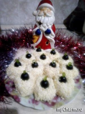 """Порционный салат """"Новогодняя игрушка"""""""