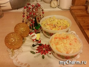Маринованная капуста и салат с ней