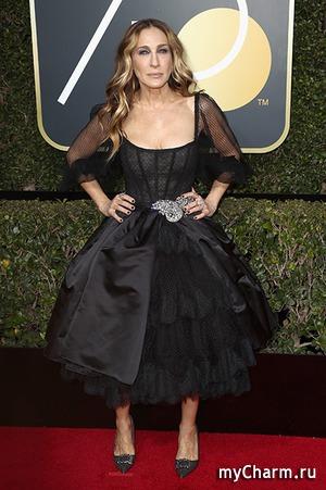 Сара Джессика Паркер выбрала неудачное платье для «Золотого глобуса»