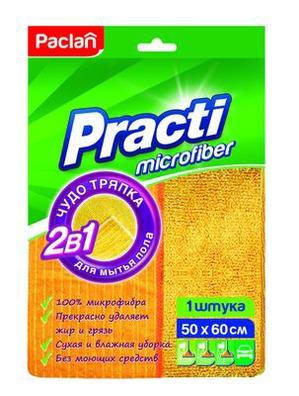 Два подхода к мытью пола: Paclan Practi Microfiber избавят от всех видов загрязнений благодаря двусторонней текстуре