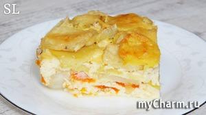 Это Очень Вкусно! Попробуйте Сами! Нежнейшая Запеканка с Рыбой, Картофелем в Яичной заливке!