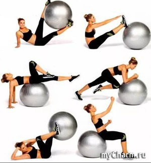 20 упражнений на фитболе для живота и кора