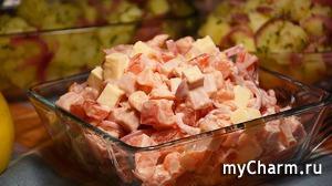 Салат Без майонеза – Настоящая находка! Сразу готовьте двойную порцию этого вкуснейшего салата!
