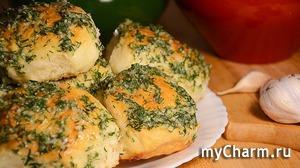 Пампушки с чесноком к борщу (в духовке). Тесто без яиц, готовится очень просто