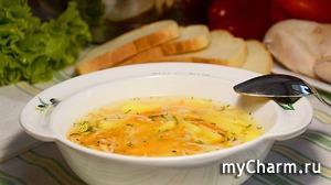 Легкий куриный суп (без зажарки). Очень вкусно и полезно!