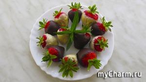 Роскошный десерт — клубника в шоколаде