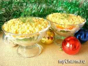Новогодний салат-коктейль то, что нужно на праздничный стол!
