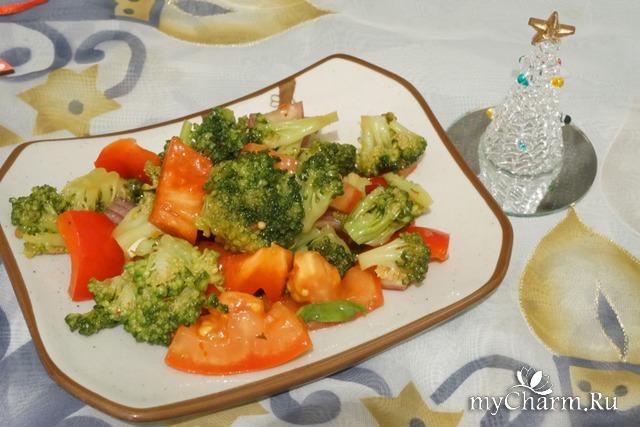 Салат из броколли в китайском стиле