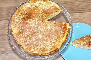 Заливной пирог с капустой на кефире. Быстрый, простой пирог с капустой.