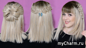 3 Прически на короткие волосы! 3 Easy Hairstyles for short Hair