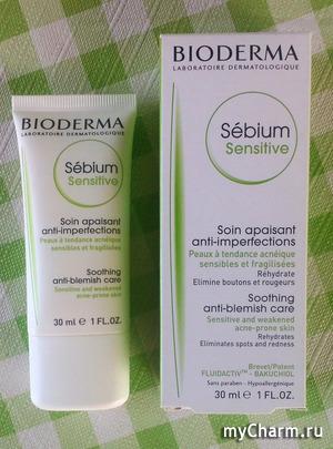 День косметического крема на MyCharm 18 августа. Крем для лица от Bioderma Sebium Sensitive.