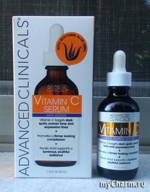 Advanced Clinicals сыворотка с витамином С. Профессиональный уход с секретами.