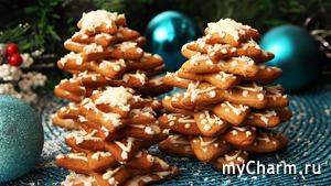 Создаем Новогоднее Настроение! ЕЛОЧКИ из Имбирного Печенья! ВКУСНОЕ Украшение Стола!