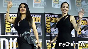 Сальма Хайек показала, как Анджелина Джоли выглядит без макияжа