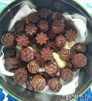 Домашние шоколадные конфетки.
