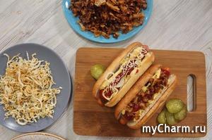 Хрустящий жареный и печеный лук. 2 добавки к хот-догу, бургеру да и вообще к всему.
