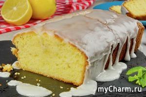 Лимонный кекс с лимонной глазурью