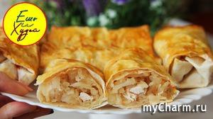 Вкуснейшие Ленивые пирожки с капустой и куриным филе! ПП рецепт