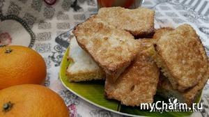 Сухарики со сметаной и сахаром, быстро к чаю без возни с тестом.