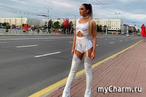 Ольга Бузова появилась на улицах Витебска в подвязках и корсете