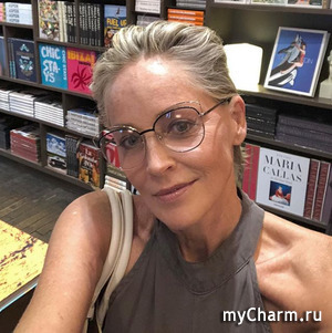 Шэрон Стоун отправилась на шопинг без макияжа