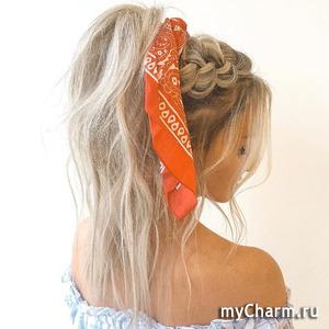 Лето, волосы, платок - идеально!