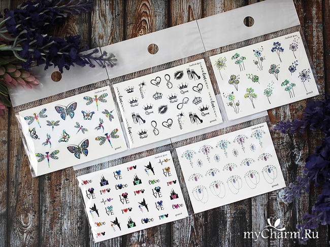 Стразы, бабочки и одуванчики - летнее настроение со слайдерами от ArtMix