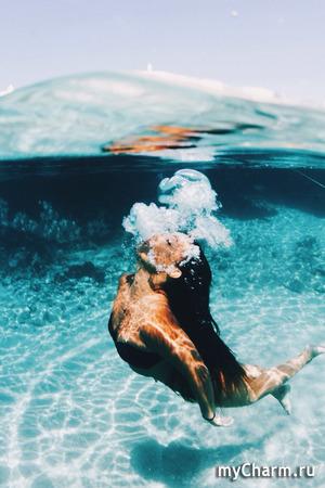 Морская вода не сможет навредить волосам!