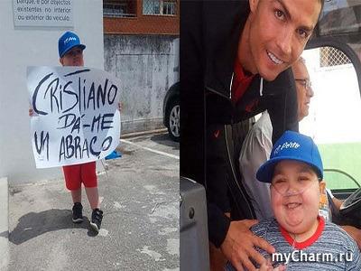 Ради снимка с больным ребенком Роналду остановил свой автобус со сборной