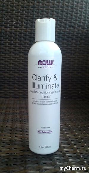 Now solutions Clarify&Illuminate toner-- многообещающий тоник для лица.