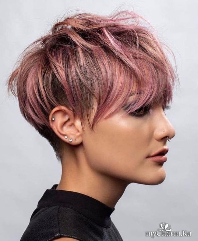 Короткие волосы можно красить только в один тон?