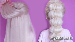 Легкая и красивая коса без плетения || Новая прическа 2019