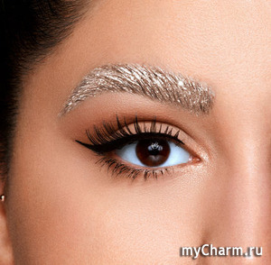 NYX metallic brow gel--- блестящий гель для бровей/хайлайтер.