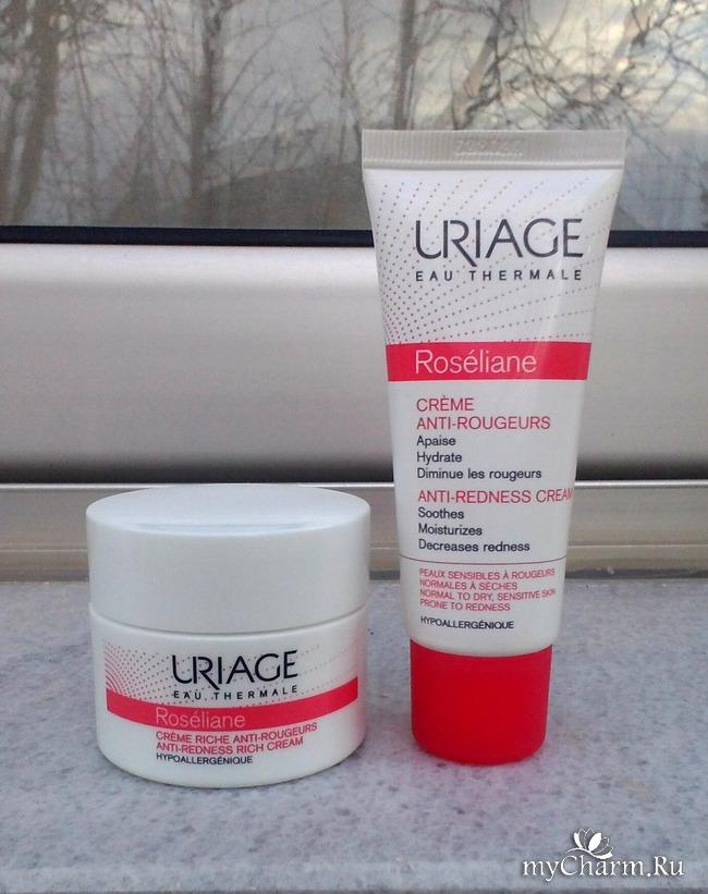 Моя косметическая находка --- Uriage Roseliane Anti- redness : 2 крема из уходовой линейки против купероза.